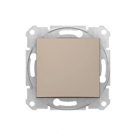 Выключатель 1 кл. перекрестный титан - 1