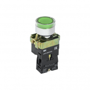 Кнопка  LAY5-BW3361 с подсветкой зелёный 1НО ИЕК