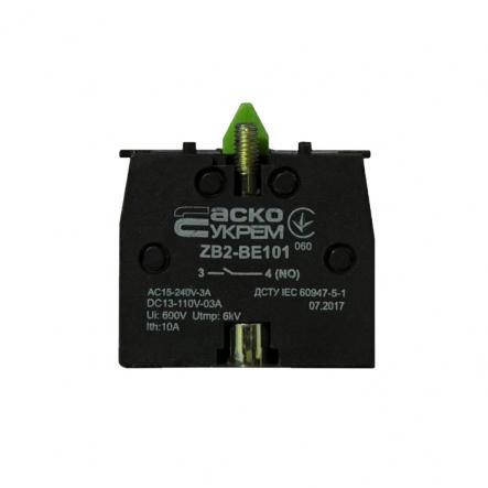 Блок-контакт ZВ2-ВЕ101 N/O для кнопок АСКО-УКРЕМ - 1