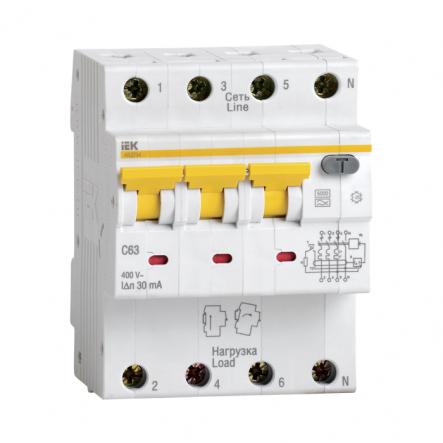 Дифференциальный автоматический выключатель IEK АВДТ-34 С 25А 30мА - 1