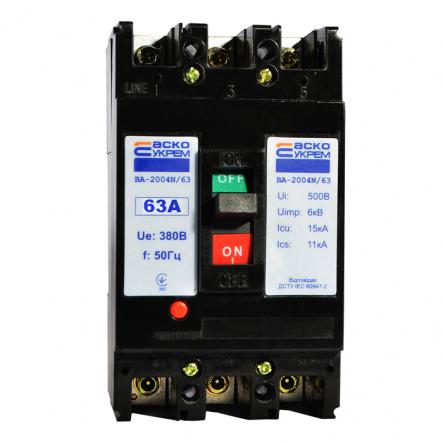 Автоматический выключатель ВА-2004N/63 3р 63А АСКО - 1