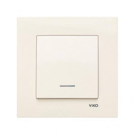 Выключатель одноклавишный с подсветкой крем VIKO Серия KARRE - 1