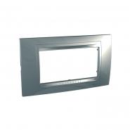 Рамка четырехместная серебро  Allegro