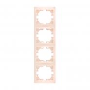 Рамка 4-я вертикальная б/вст крем Lezard серия  MIRA