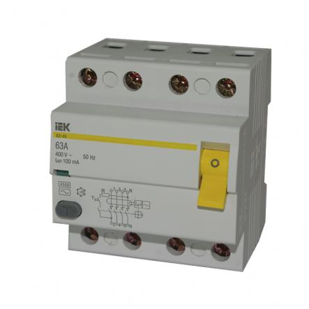 Устройство защитного отключения УЗО IEK ВД1-63 4p 63A/100мА - 1