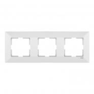 Рамка 3-я горизонтальная белая MERIDIAN