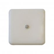 Светильник LED с фотореле 20W IP20 4000К 1650Лм 195*195*38mm с датчиком движнения  квадрат белый