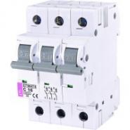 Автоматический выключатель ETI 3р 16А  6kA 2145516