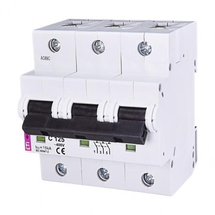 Автоматический выключатель ETI С 125A 3p 10kA 2135733 - 1