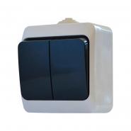 Выкл. 2-кл. влагозащищенный (черные клавиши)