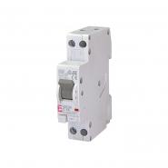 Дифференциальный автоматический выключатель KZS-1M C 16А/0,03 (6kA)1р АС ETI 2175224