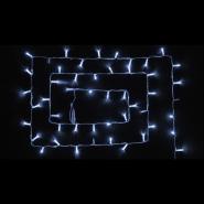 Гирлянда внеш_DELUX_STRING_100LED (80Led+20Led Flash) 10m (2*5m) бел flash бел/проз IP44 EN