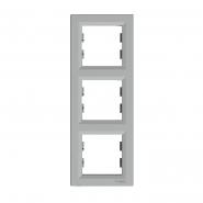 Рамка 3-я вертикальная  ASFORA  алюминий