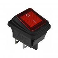 Перемикач 1 клав. вологозах. з підсвічуванням KCD2-201WN R/B 220V АСКО