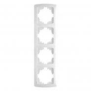Рамка четверная вериткальная белый VIKO Серия CARMEN