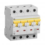 Автоматический выключатель  ВА 47-60 4Р 63А 6 кА  х-ка D IEK