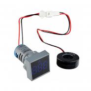 Амперметр цифровой ED16-22FAD 0-100A (синий) врезной монтаж