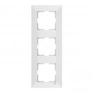 Рамка 3-я вертикальная белая MERIDIAN