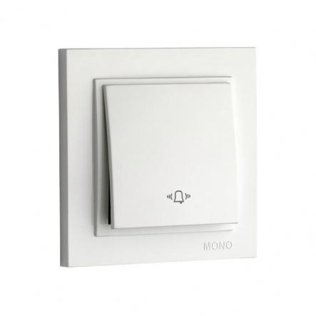 Кнопка звонка, Mono Electric, DESPINA (белый) - 1
