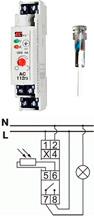 Автомат светочувствительный Электросвит AZ-B UNI plus (12-264В) 16 А с зондом ГЗ IP65(в корп) АС-112гз+ - 1