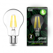 Лампа Gauss LED Fito Filament A60 6W E27