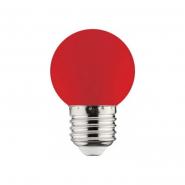 Лампа LED 1W E27 красная 10/250 HOROZ