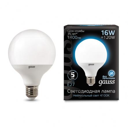 Лампа Gauss LED Black G95 16W E27 4100K - 1