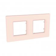 Рамка 2-местная розово-жемчужный UNIKA QUADRO