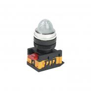 Светосигнальный индикатор IEK AL-22 d22мм прозрачная неон 240В цил.