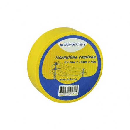 Изолента 0,13мм*19мм 10м жёлтая АСКО - 1