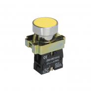Кнопка  LAY5-BA51без подсветки жёлтая 1з ИЕК