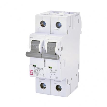 Автоматический выключатель ETI 6 1p+N С 10А (6 kA) 2142514 - 1