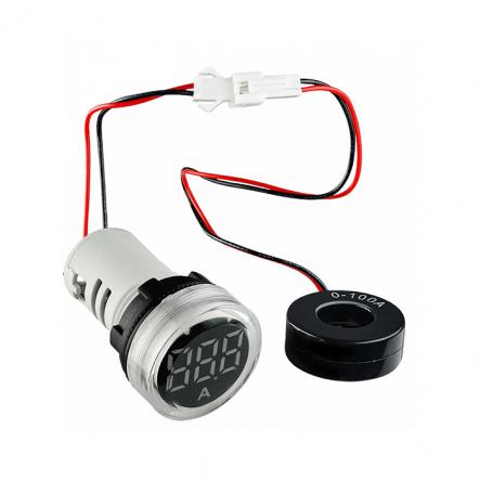 Амперметр цифровой ED16-22AD 0-100A (белый) врезной монтаж - 1