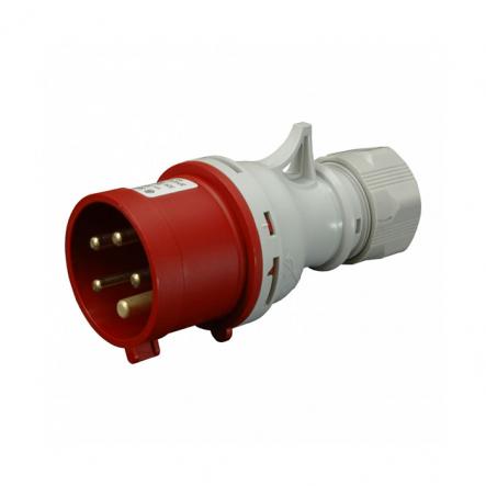 Вилка промышленная IVN (IP 44), 16А, 400V, 5 п SEZ - 1