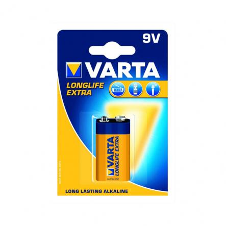 Батарейка VARTA LONGLIFE 6LR61 BLI 1 ALKALINE крона - 1