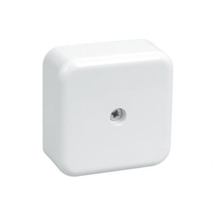Коробка КМ41206-01 расп. для о/п 50х50х20мм белая (с конт.гр) - 1