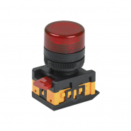 Светосигнальный индикатор IEK AL-22TE красная d22 240В цил.