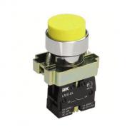 Кнопка управления LAY5-BL51 без подсветки желтая 1з ИЕК