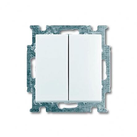 Выключатель двухклавишный проходной ABB белый Basic 55 - 1