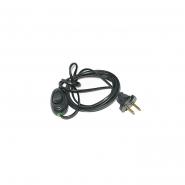 Шнур на бра чёрный с выключателем 1,7м.