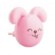 """Ночник FERON  FN1167 """"зайчик ушки вниз"""" розовый с выключателем"""