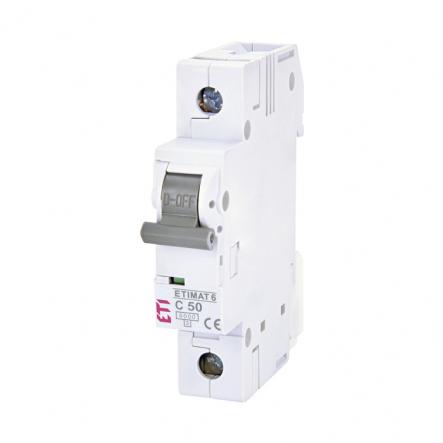 Автоматический выключатель ETI 1р 50А 6kA 2141521 - 1