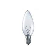 Лампа декоративная свеча  ДС 230-40 Е14 искра