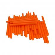 Термоклей тонкий диам.-7мм, L: 100мм, оранжевый, 1кг.