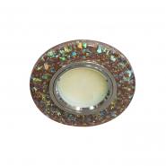 Светильник точечный SMD2835 15 LEDS (4000K) мерц коричневый серебро с  led подсветкой