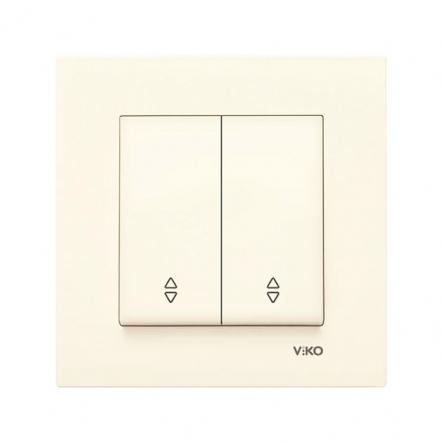 Выключатель двухклавишный на 2 направления крем VIKO Серия KARRE - 1