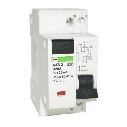 Автоматический выключатель защитного выключения Промфактор АЗВ 1п+н С20/0,03 - 1