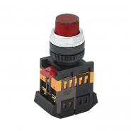 Кнопка  ABLFP-22 красный d22мм неон/240В 1з+1р ИЭК 31879