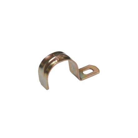 Скоба металлическая однолапковая ИЕК d38-40 мм - 1