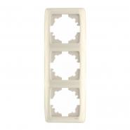Рамка тройная вертикальная крем VIKO Серия CARMEN